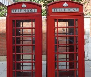 Telephones outside of St Athans Hotel
